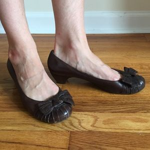 Aldo low heels with bow toe